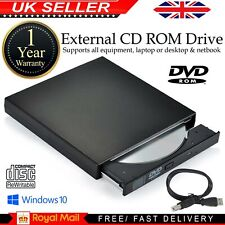 External USB 2.0 DVD RW CD RW Drive DVD ROM Burner Writer Player PC Laptop UK