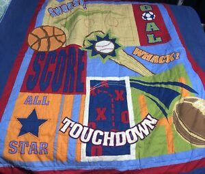 """All Star Circo Twin Size Ball Designed Sports Blanket Quilt-63""""x86"""""""