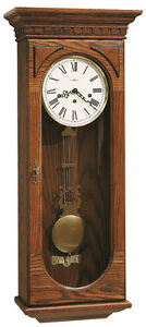 """613-110 HOWARD MILLER KEY WOUND CHIME WALL CLOCK """"WESTMONT"""""""