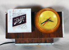 Schlitz 1965 Lighted Cash Register Clock Sign Everbrite Electric Milwaukee Wi