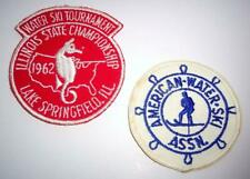 2 Vintage Water Skiing Patches 1962 IL Championship, American Water Ski  Assoc.