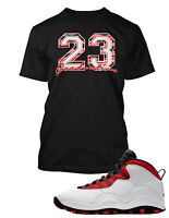 Tee Shirt to Match Air Jordan 10 Graduation Red Shoe Custom Graphic  Tshirt