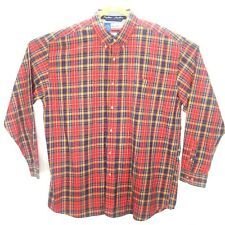 George Strait Cowboy Cut Collection By Wrangler Mens Button Down Red Plaid XXL