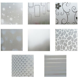 200*60cm Home Privacy Glass Frosted Window Film Static Cling Frosting Sticker SY
