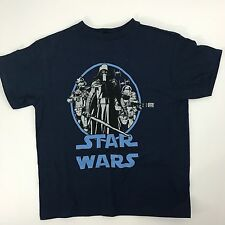 Star Wars Distressed Navy Blue Dark Side Characters T-shirt Size S