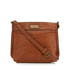NEW Kangol Front Zip Brown Tan Pocket Front Cross Body Bag Unisex