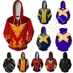 Newest X-Men Dark Phoenix hoodie Sweatshirt Cosplay Costume coat jacket  X17