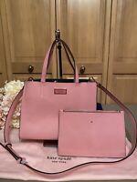 KATE SPADE NEW YORK Small/Mini Satchel/Tote Crossbody Handbag - PINK - NEW