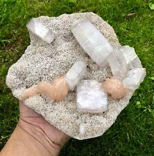 Apophyllite With Stilbite Crystal Cluster Mineral Display Specimen Zeolite A25