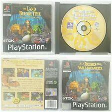 Gioco PS1 PSX Alla Ricerca della Valle Incantata Sony PlayStation Manuale PAL