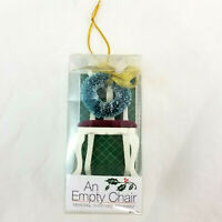 """An Empty Chair 3.5"""" Memorial Wreath Holiday Christmas Tree Ornament by Roman"""