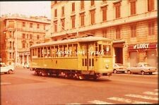 R4 - Dia slide 35mm original Italy Italia Rome Roma 1978: local tramcar