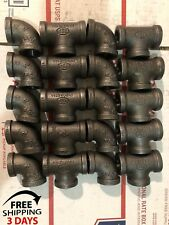 1/2INCH BLACK IRON PIPE THREADED (10) ELBOWS AND (10) TEES,GAS FITTINGS PLUMBING