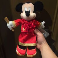 SHDR Wedding Mickey Mouse 9in Plush Shanghai Disneyland Disney Park exclusive