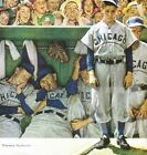 """34W""""x36H"""" THE DUGOUT by NORMAN ROCKWELL VINTAGE CHICAGO CUBS MLB BASEBALL CANVAS"""