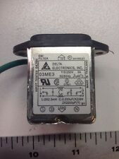 Delta Electronics 3 Prong EMI Filter 03ME3 Solder On Board Type Used