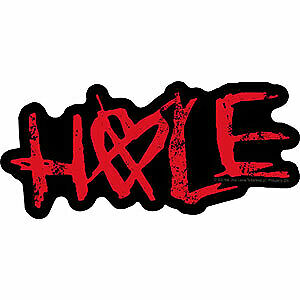 "HOLE with ""X"" Sign on Heart Shape ""O"" Orignal Artwork Decal STICKER - 2.3"" x 5"""