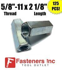 Qty 125 58 11 X W1316 X L 2 18 Coarse Grade A Hex Rod Coupling Nut Zinc