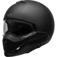 Bell Broozer Street Cruiser Motorcycle Helmet Solid Flat Matte Black Large NEW