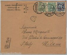 CHINA --  POSTAL HISTORY: COVER to ITALY 1940