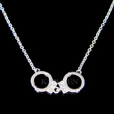 Moveable Handcuffs made with Swarovski Crystal Handcuff Naughty Costume Necklace