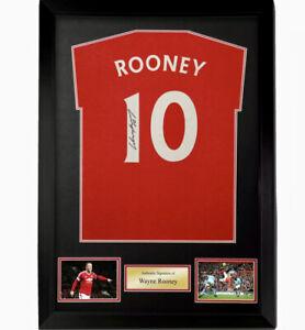 Wayne Rooney Hand Signed Manchester United Football Home T-Shirt Jersey & COA