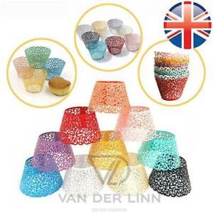 *UK Seller* 1~500X Filigree Vine Lace Wedding Birthday Cupcake Wrapper Cases