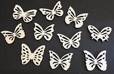 #2 Schmetterling Mix 10 Streudeko Holz Tischdeko Deko Bastel Zubehör helles Holz