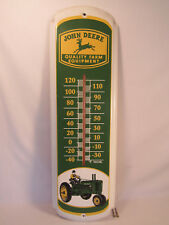 "Vintage John Deere Quality Farm Equipment Metal Thermometer Sign 27"" Taylor"