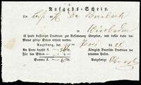 1828-BY, Augsburg, Brief-Postschein der reitenden Posten nach Wiesbaden