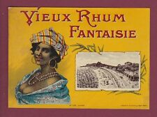 Etiquette 250515 - RHUM - SPECIMEN D'ETIQUETTE Vieux rhum fantaisie - Martinique