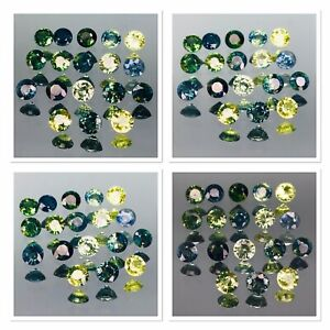 Australian Sapphires Untreated 5.65 Carat Bi Colour Mix 4x4x2.75 Mm 18 Gemstones