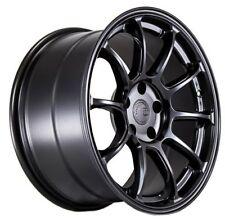 Aodhan AH06 18x9 +30 5x100 Black Wheels Aggressive Fits Brz Impreza Neon Tc