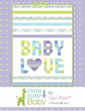 From Bump To Baby Quilt Kit Can Customize in Pink/Yellow Moda Fabric Gina Martin