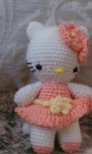 Hello Kitty - Handcrafted/crocheted kitty -  feeling very Peachy today!