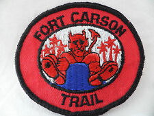 Girl Scouts of America Patch Fort Carson Trail Colorado Devil Vintage 1970's