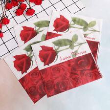 20Pcs rose wedding paper napkins for decoupage wedding decoration supplies YT