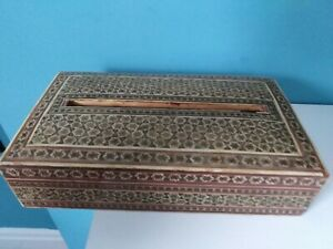 Vintage Wooden  Tissue Paper Box Cover