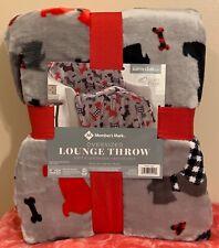 Scotty Dog Scottie Throw Members Mark Oversized Lounge Blanket Plush 60x70 New