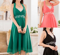 Womens Ladies Wedding Party Evening Cocktail Formal Dress Size 12 14 16 18 #2369