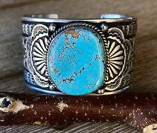 Sunshine Reeves Sterling Cuff with #8 Turquoise ~Signed~