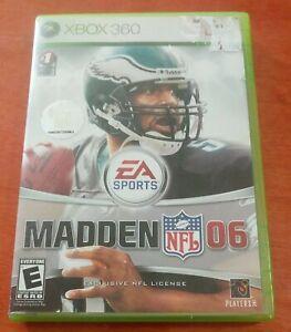 Madden NFL 06 Microsoft Xbox 360 EA Sports Electronic Arts Football Everyone