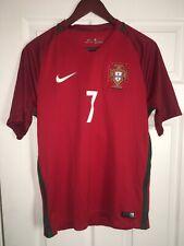 2016 Nike Authentic Dri Fit Portugal Christiano Ronaldo Football Jersey Size M