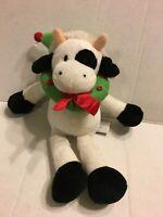 "GUND Christmas Flapadoodles Cow  9"" Plush Stuffed Animal"