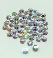 Nail Art Fashion Flatbck Crystal AB ResinJewelry Round Rhinestone 200Pc 6mm Gift