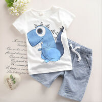 Toddler Kid Baby Boys Cartoon Printing T-shirt Short Pants Clothes Outfits Set