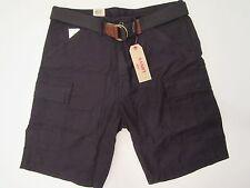 NWT Men's Boys Levis Fort Cargo Belted Black Shorts Sport Golf Fit Size 36