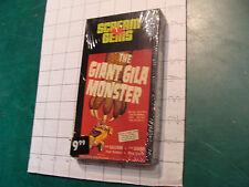Factory Sealed VHS: the GIANT GILA MONSTER c. 1991 don sullivan, lisa simone