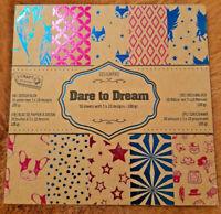 30 Sheets Dare to Dream - Foiled Scrapbooking Cardmaking Paper Pad Art Kraft