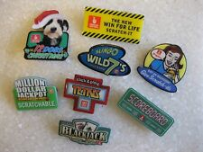 Lot Oregon Lottery Pins 12 Dogs Christmas, Scratch-its, Wild 7's, Blackjack More